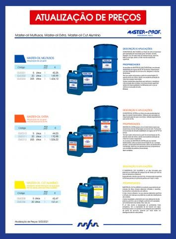 ATUALIZAÇÃO DE PREÇOS MASTER-OIL